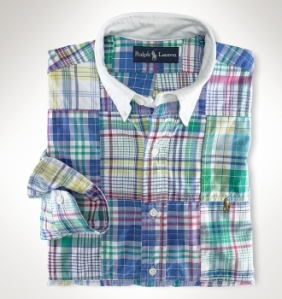Ralph Lauren Slim-Fit Madras Shirt