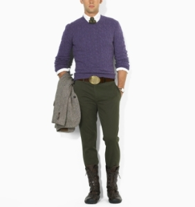 Ralph Lauren Cashmere Cable Crewneck Sweater