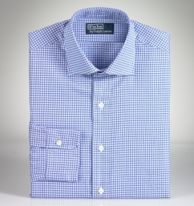 Slim Custom-Fit Gingham, $100